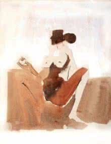 Arun K Mishra | Watercolor Painting title Kamasutra Nude Couple 2 on Paper | Artist Arun K Mishra Gallery | ArtZolo.com