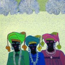 Rhythm 16 | Painting by artist Anuradha Thakur | acrylic | Canvas