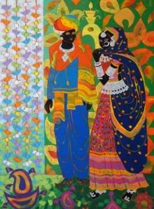 Rhythm 62 | Painting by artist Anuradha Thakur | acrylic | Canvas