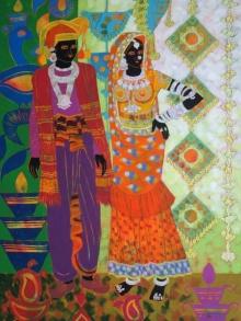Rhythm 72 | Painting by artist Anuradha Thakur | acrylic | Canvas