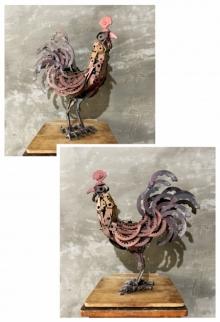 Mixedmedia Sculpture titled 'Cock 16' by artist Vinit Barot