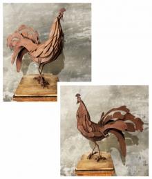 Mixedmedia Sculpture titled 'Cock 36' by artist Vinit Barot