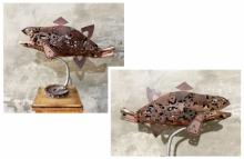 Mixedmedia Sculpture titled 'Fish' by artist Vinit Barot