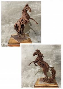 Mixedmedia Sculpture titled 'Horse 5' by artist Vinit Barot