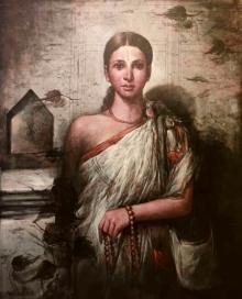 Figurative Acrylic Art Painting title Untitled 2 by artist Sekhar Kar