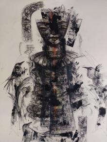 Figurative Mixed-media Art Painting title Untitled 4 by artist Sekhar Kar