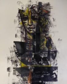 Figurative Mixed-media Art Painting title Untitled 6 by artist Sekhar Kar