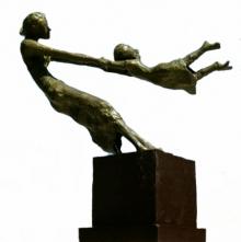 Bronze Sculpture titled 'Joy' by artist Chaitali Chanda