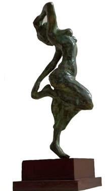 Bronze Sculpture titled 'Rhythm' by artist Chaitali Chanda