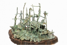 Bronze Sculpture titled 'River Side 2' by artist Chaitali Chanda