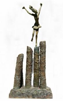 Bronze Sculpture titled 'Shravasti' by artist Chaitali Chanda