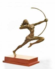Bronze Sculpture titled 'Target' by artist Chaitali Chanda
