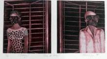 Papari Thakuria | Love In 2014 Printmaking by artist Papari Thakuria | Printmaking Art | ArtZolo.com