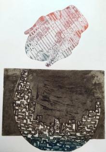 Papari Thakuria | Relation Printmaking by artist Papari Thakuria | Printmaking Art | ArtZolo.com