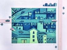 art, printmaking, paper, etching, cityscape