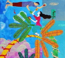 Chronicle Of The Ecstacy 2 | Painting by artist Gayatri Artist | acrylic | Canvas