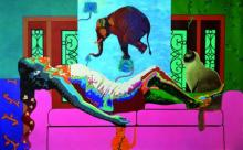 History Of Dreams And Reality 2  | Painting by artist Gayatri Artist | acrylic | Canvas