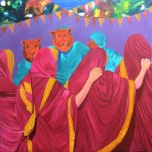 Masked | Painting by artist Gayatri Artist | acrylic | Canvas