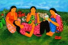 Figurative Acrylic Art Painting title Untitled 1 by artist Anjum Khan