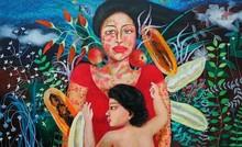 Figurative Acrylic Art Painting title Untitled 2 by artist Anjum Khan