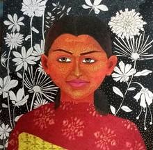 Figurative Acrylic Art Painting title Untitled 4 by artist Anjum Khan