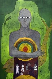 Ankit Kushwaha   Lakshya 3 Printmaking by artist Ankit Kushwaha   Printmaking Art   ArtZolo.com