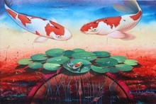 Animals Acrylic Art Painting title 'Gracious Living' by artist Bikash Mohanta