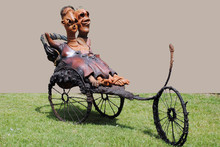 Mixedmedia Sculpture titled 'The Cycle Paths' by artist Deveshh Upadhyay