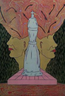 Diksha Dhingra | Mind Thoughts Printmaking by artist Diksha Dhingra | Printmaking Art | ArtZolo.com