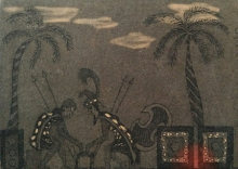 Diksha Dhingra | Spartans Printmaking by artist Diksha Dhingra | Printmaking Art | ArtZolo.com