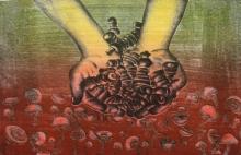 Diksha Dhingra | Untitled 2 Printmaking by artist Diksha Dhingra | Printmaking Art | ArtZolo.com