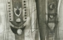 Abstract Charcoal Art Drawing title Untitled 2 by artist Narendra Jatav