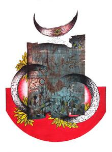 Papil Manna | Eclipse Printmaking by artist Papil Manna | Printmaking Art | ArtZolo.com