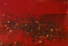 Abstract Acrylic Art Painting title 'Old City' by artist M Singh