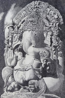 Religious Mixed-media Art Drawing title Ganesha by artist Surya Murthy