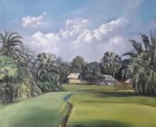 Landscape Oil Art Painting title Landscape 2 by artist Pabitra Kundu
