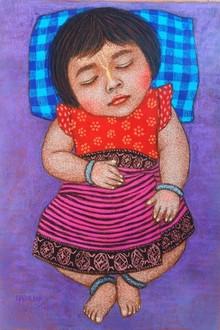 Figurative Dry-pastel Art Painting title 'Img-20201201-wa0019' by artist Meena Laishram