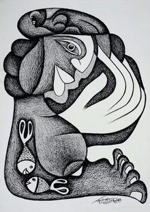 art, drawing, paper, pencil, figurative