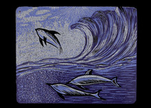 Arvind Sharma | Sea Waves Printmaking by artist Arvind Sharma | Printmaking Art | ArtZolo.com