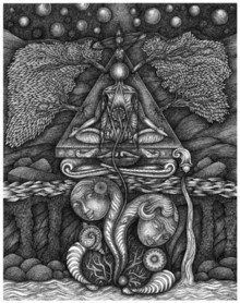 art, drawing, pen, ink, paper, religious