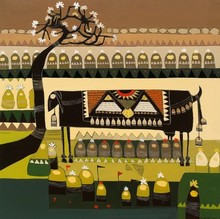 Landscape Acrylic Art Painting title Untitled 8 by artist Vaishali Patil