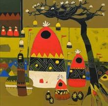 Landscape Acrylic Art Painting title Untitled 9 by artist Vaishali Patil