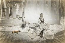 Santosh Jain | Amma Series 4 Printmaking by artist Santosh Jain | Printmaking Art | ArtZolo.com