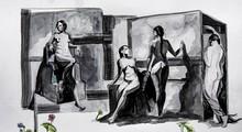 Figurative Mixed-media Art Painting title Unlock 4 by artist Santosh Jain