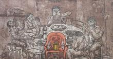 Charandas Jadhav | Lust Supper 1 Printmaking by artist Charandas Jadhav | Printmaking Art | ArtZolo.com