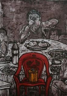 Charandas Jadhav | Lust Supper 2 Printmaking by artist Charandas Jadhav | Printmaking Art | ArtZolo.com