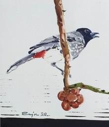Animals Watercolor Art Painting title Bird 2 by artist Raju Sarkar