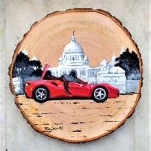 Transportation Acrylic Art Painting title Untitled by artist Raju Sarkar