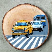 Transportation Acrylic Art Painting title Untitled 2 by artist Raju Sarkar