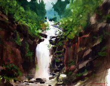 Nature Watercolor Art Painting title Untitled 1 by artist Azharuuddin Inamdar
